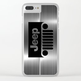 jeep logo Clear iPhone Case