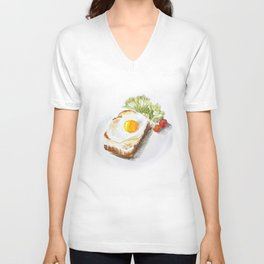 egg toast Unisex V-Neck