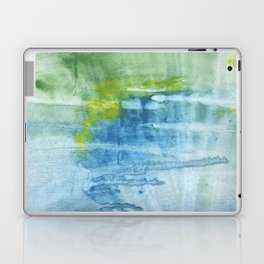 Blue green colored wash drawing Laptop & iPad Skin