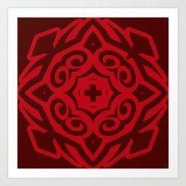 Rouge Alpha (colored Callisto) Art Print
