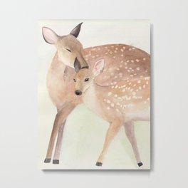 Springtime fawns Metal Print