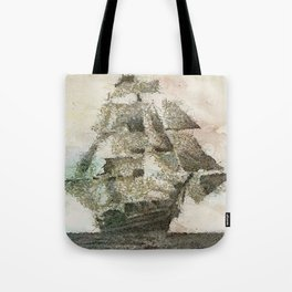 Mary Celeste - a ghost ship Tote Bag