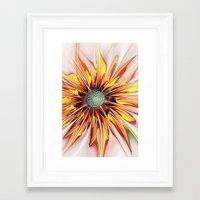 sunflower Framed Art Prints featuring Sunflower by Klara Acel