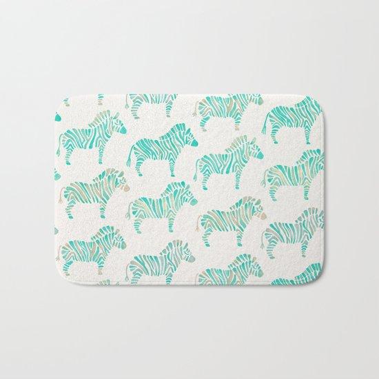 Zebras – Mint Palette Bath Mat