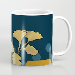 Gingko and hexagons Coffee Mug