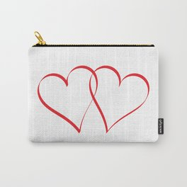 Embracing Hearts Carry-All Pouch