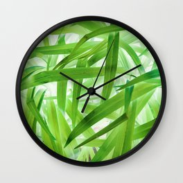 530 - Abstract Grass design Wall Clock