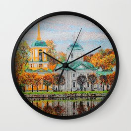 The Temple of the All-Merciful Saviour in the Park Kuskovo Wall Clock