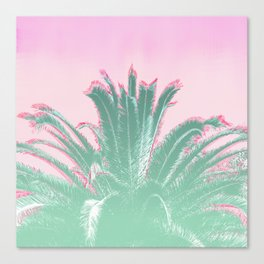 Palm Tree Leaves Tropical Vibes Design Canvas Print