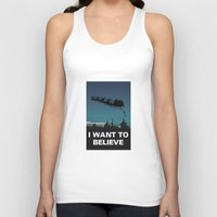 i want to believe Tank Tops featuring I want to believe by Fresco Umbiatore