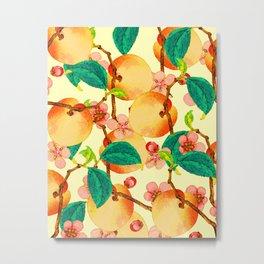 Summer fruit pattern #society6 Metal Print