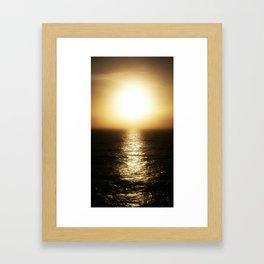 Calais ocean sunset, bloom. Framed Art Print