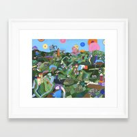 giants Framed Art Prints featuring Sleeping Giants by Valeriya Volkova