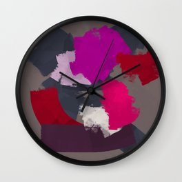 The roses I see from here Wall Clock