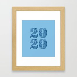 Happy Floral 2020 Classic Blue Framed Art Print