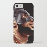 lebron iPhone & iPod Cases featuring THE KING by THEMAD3