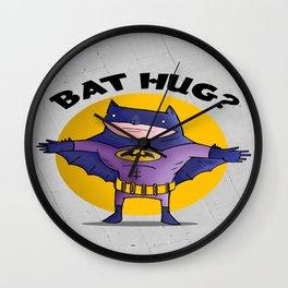 bat hug Wall Clock
