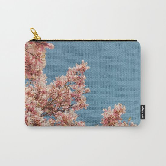 Pink Blossoms Carry-All Pouch