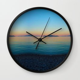 Sunset Greek Island Wall Clock