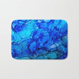 Blue Petunias Bath Mat