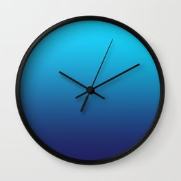 CLUELESS BLUES - Minimal Plain Soft Mood Color Blend Prints Wall Clock