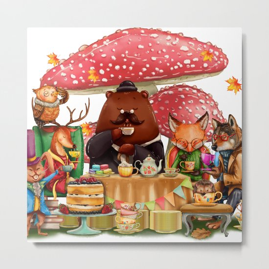 Autumn tea party #3 Metal Print