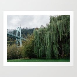 St. John's Bridge from Cathedral Park Art Print