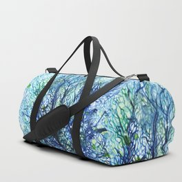 Fan Coral - Aqua Duffle Bag