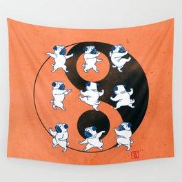 Pug Tai Chi Moves Wall Tapestry