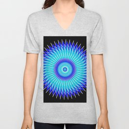Blueberry Pinwheels and Morning Glory Unisex V-Neck