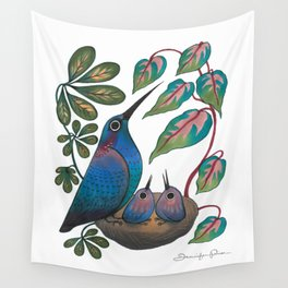 Mama Bird Wall Tapestry