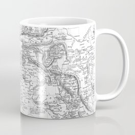 Vintage Map of Turkey (1850) BW Coffee Mug