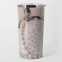 Soft Pink Nostalgic Rose and Heart Still Travel Mug