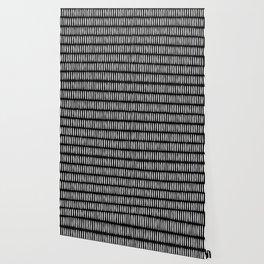 Classy Handpainted Stripes Pattern Black, Scandinavian Design Wallpaper