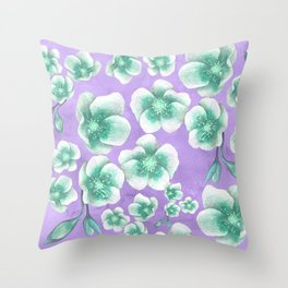Between Blue and Purple Throw Pillow