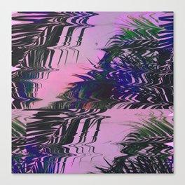 Glitchy Palm Canvas Print