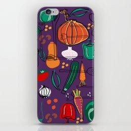 fall veggies purple iPhone Skin