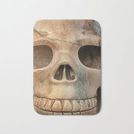 Picasso Stone Skull Bath Mat