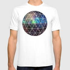 Space Geodesic SMALL Mens Fitted Tee White