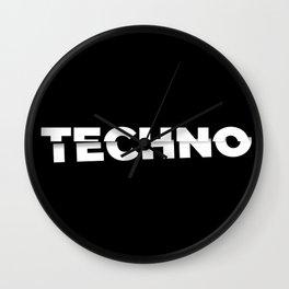 Techno sliced Wall Clock
