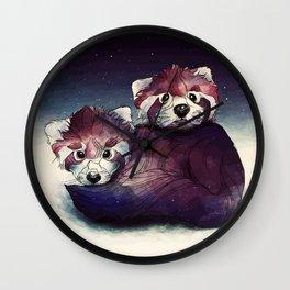 red pandas Wall Clock