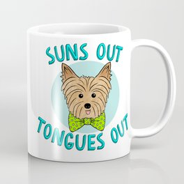 Suns Out Tongues Out Blue Coffee Mug
