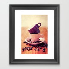 LE CAFE Framed Art Print