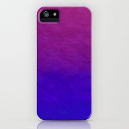 Deep Magenta Purple Ombre Watercolor iPhone Case