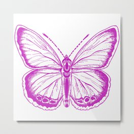 Butterfly - Violet - Beautiful - purple Metal Print