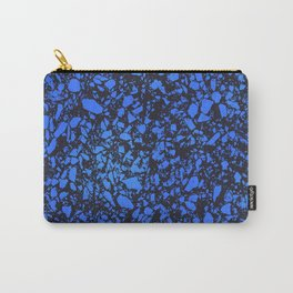 Blue indigo terrazzo pattern Carry-All Pouch