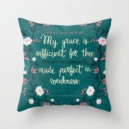 2 Corinthians12:9 Throw Pillow