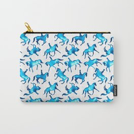 Turquoise Dressage Horse Silhouettes Carry-All Pouch