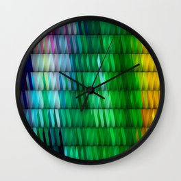 Multicolored Rectangle Pattern Wall Clock