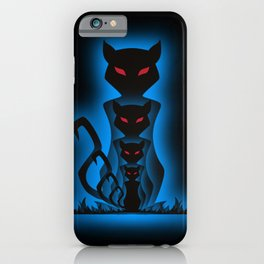 Cats, four gothic black cats iPhone Case